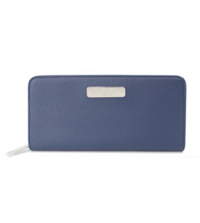 portes-monnaie Infinitif en similicuir -  Alysson -Bleu