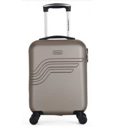 valise cabine -collection QUEENS-E - Champagne