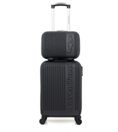 Set 2 valises cabine et vanity American travel - collection Nashville-h - Noir