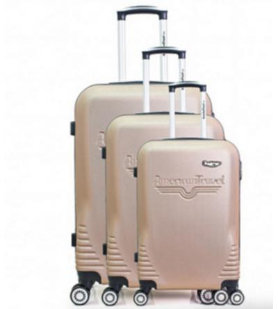 Lot de 3 valises - collection DC - Rose