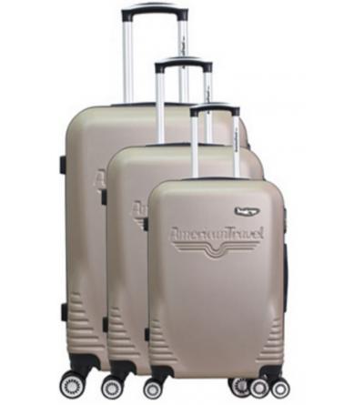 Lot de 3 valises - collection DC - Beige