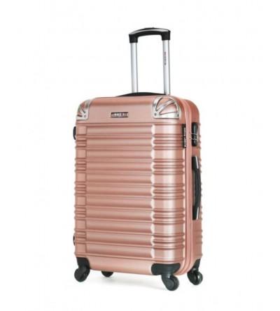 Valise moyen séjour en ABS - Modèle Lima-c - Rose