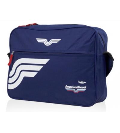 Sac bandoulière American Travel - Washington - Bleu